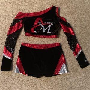Cheer uniform: $200 AS top & AM skirt